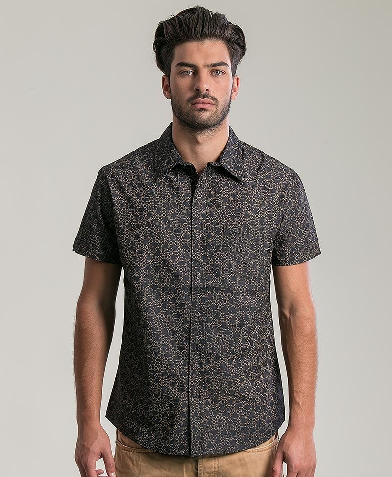 psychedelic clothing mens button up shirts lsd molecule