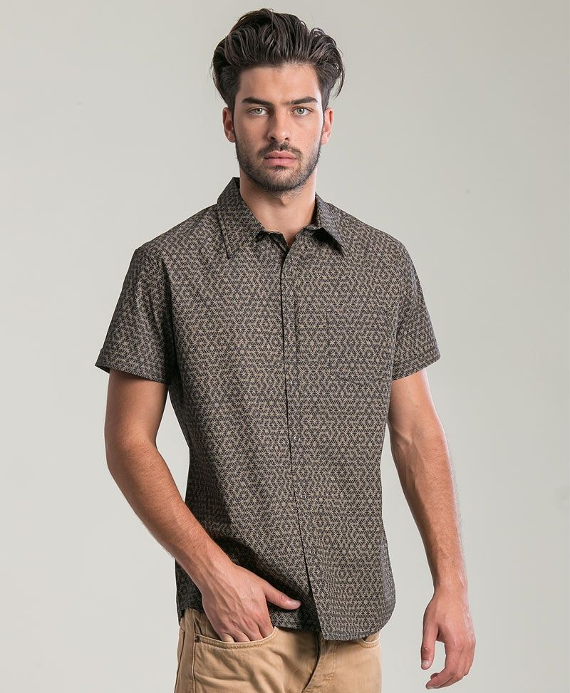psychedelic clothing mens button up shirts seed of life