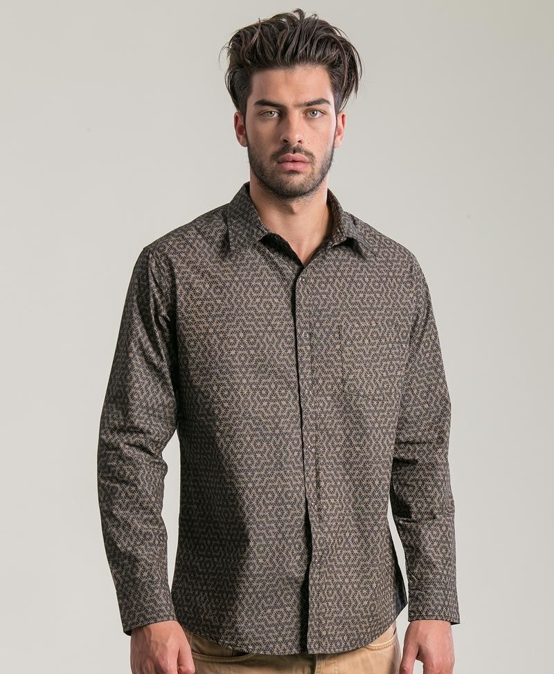 psychedelic clothing mens long button up shirts seed of life