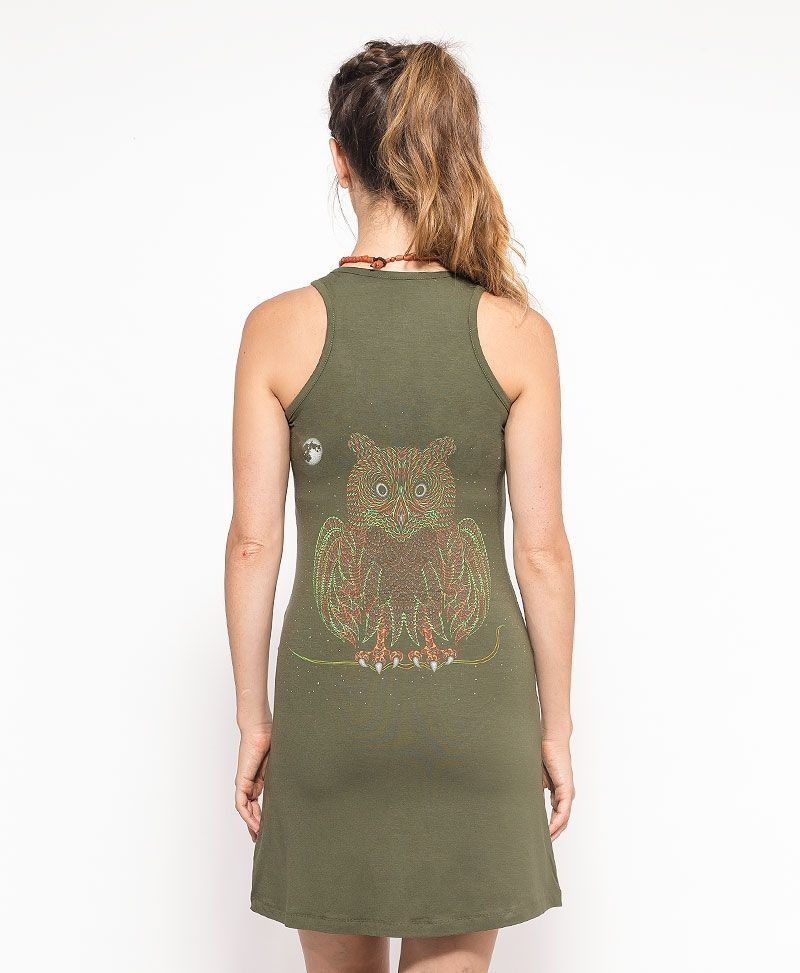 psychedelic clothing women owl dress