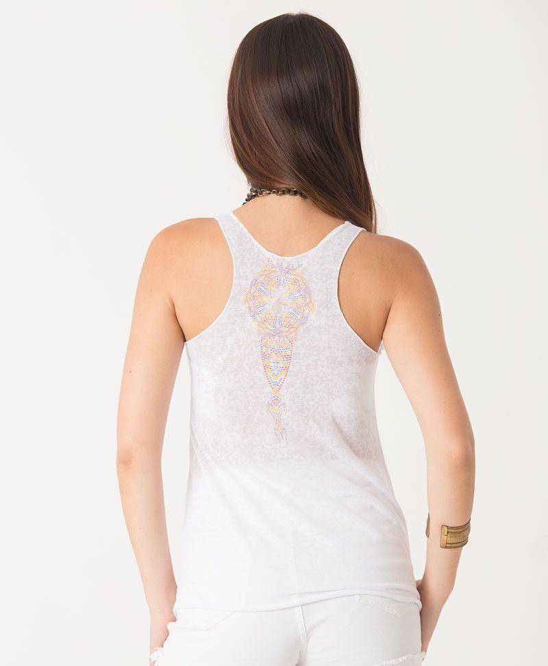 mandala tank top for women festival wear