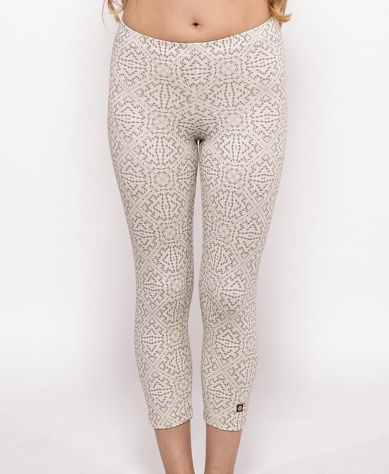 psychedelic clothing womens leggings tights off white