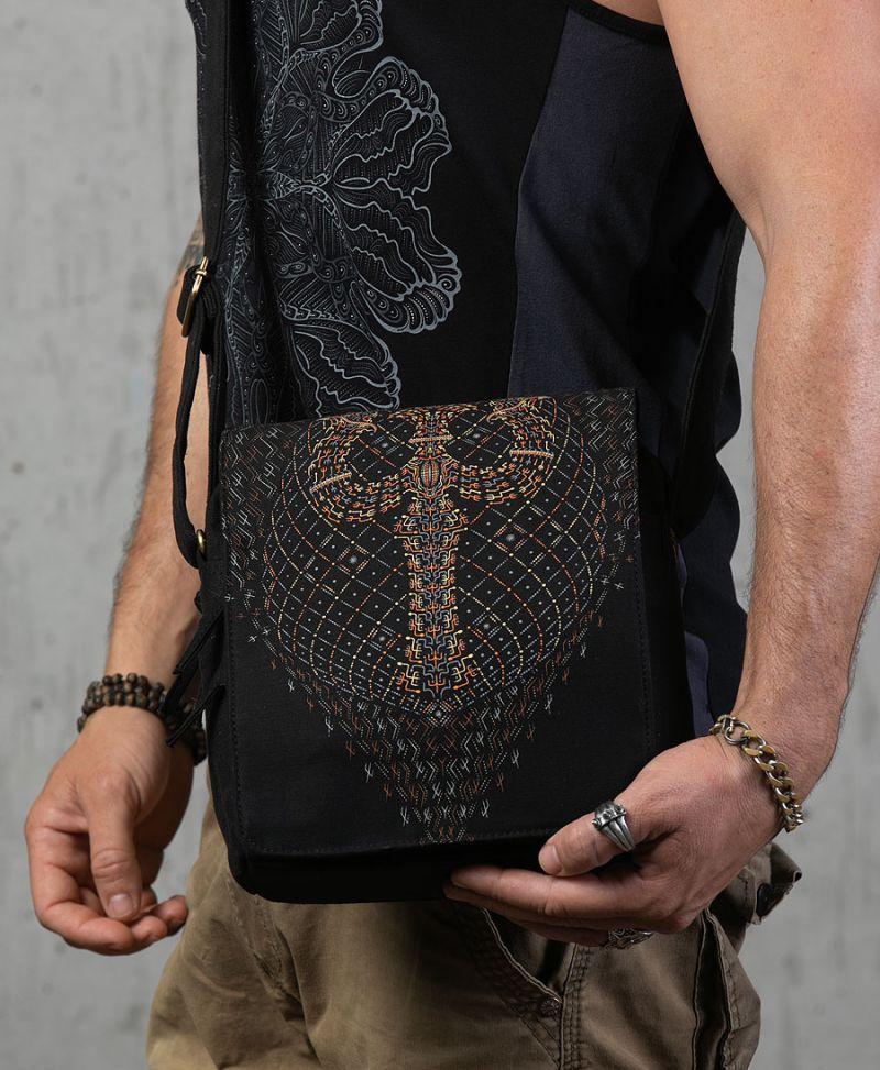 psychedelic shoulder bag crossbody trishaw print