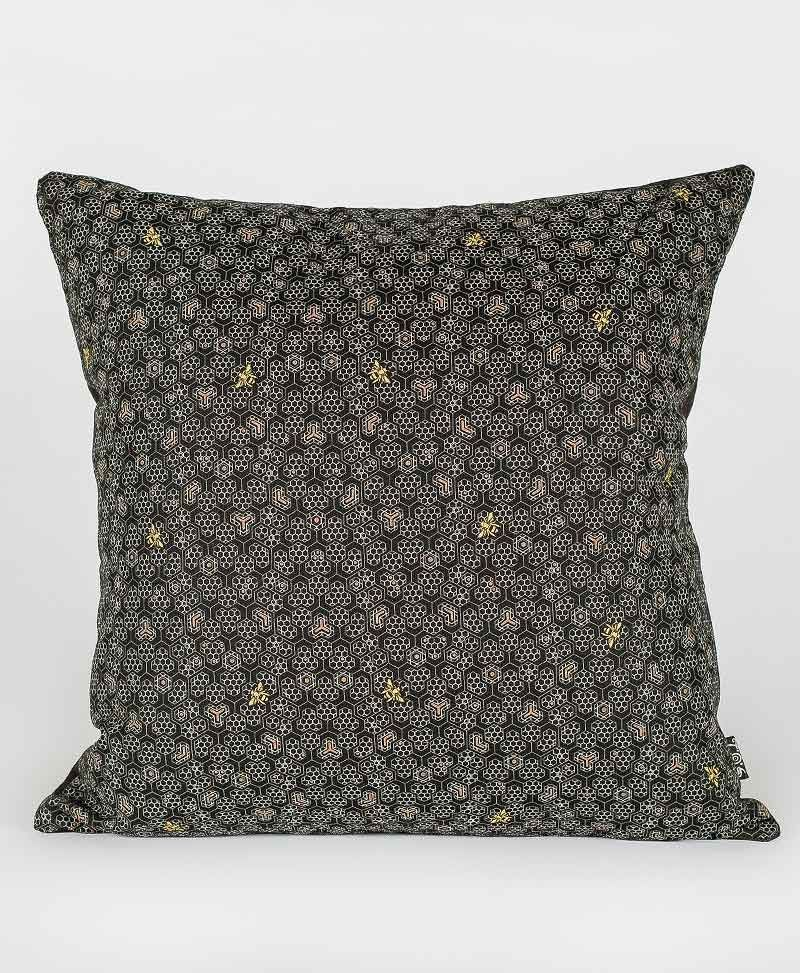 Psytrance Fashion Clothing Sacred Geometry Cubes Cushion Cover Bee Hive