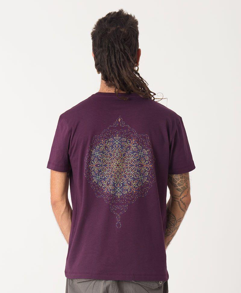 sacred geometry men t shirt peyote mandala