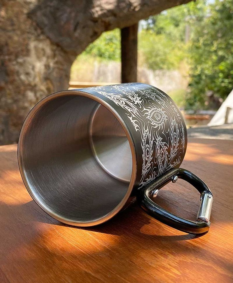 psychedelic mug travel cup psy trance gear