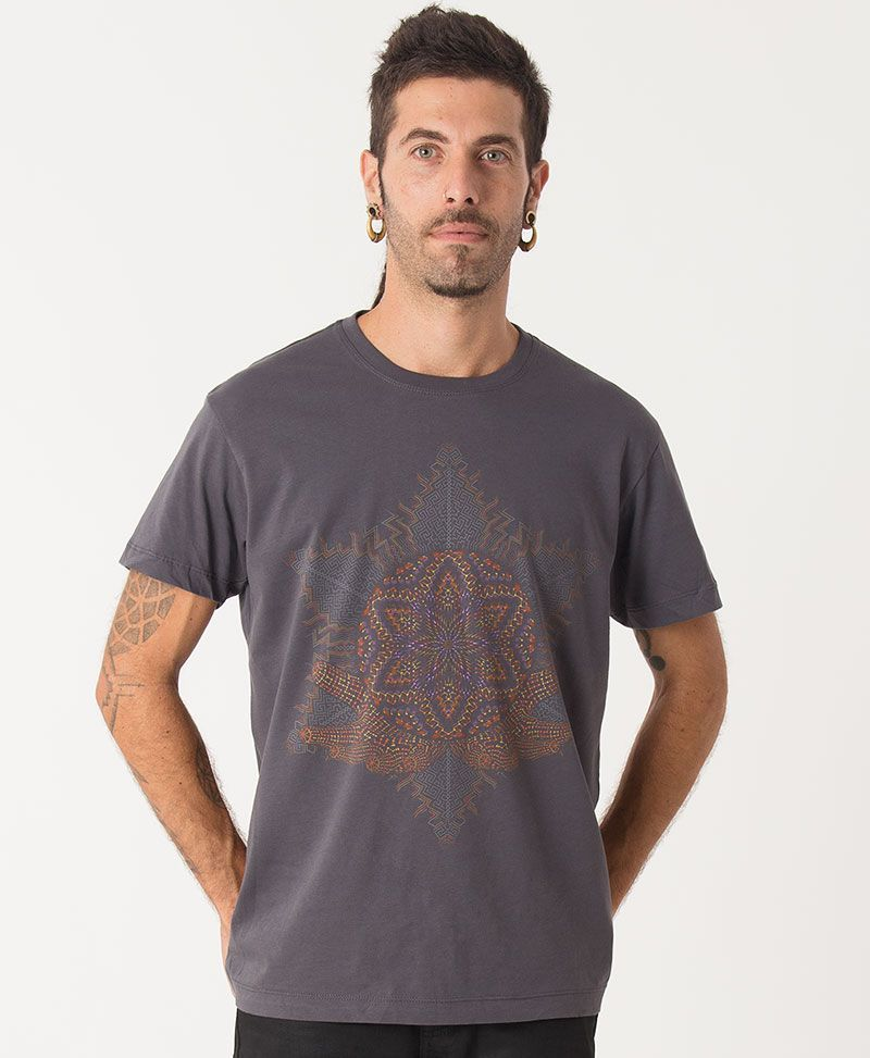 psychedelic men t shirt sacred geometry