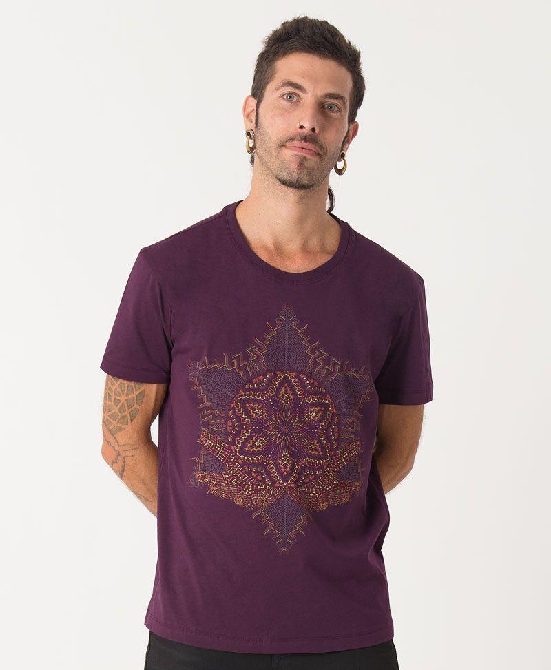 sacred geometry mandala shirt men