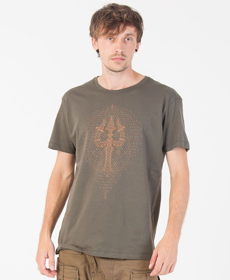 psychedelic men t shirt trishul