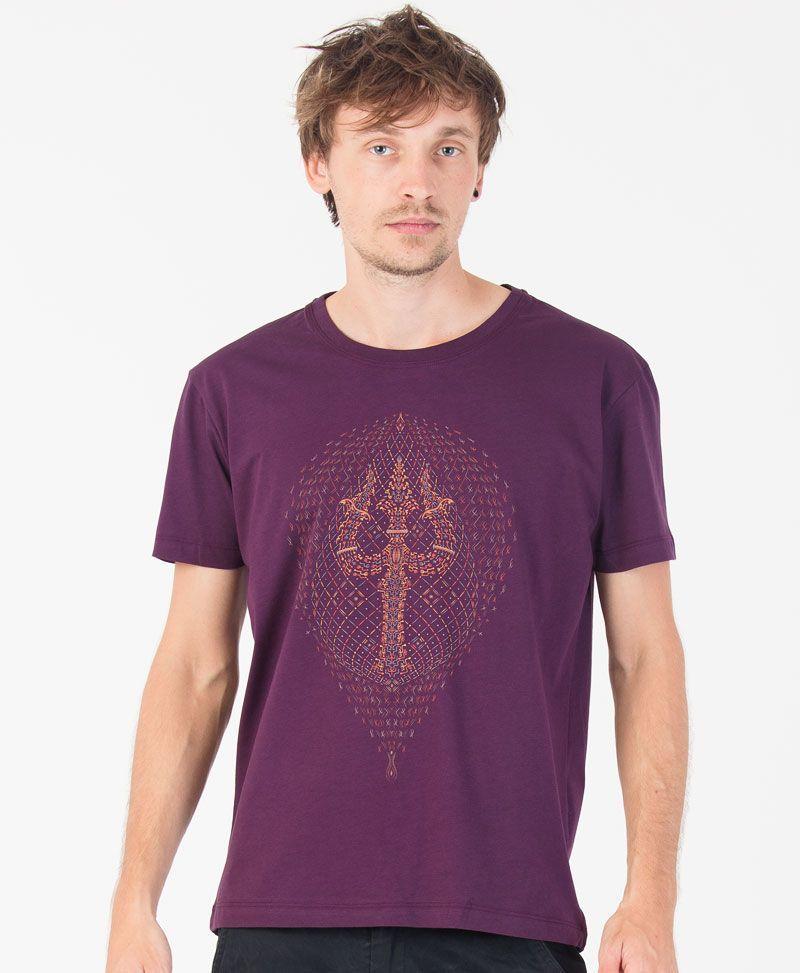psychedelic t shirt men purple