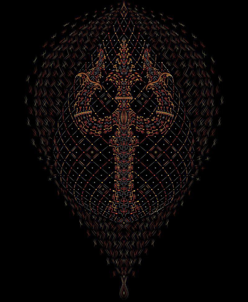 Trishul Cushion Cover