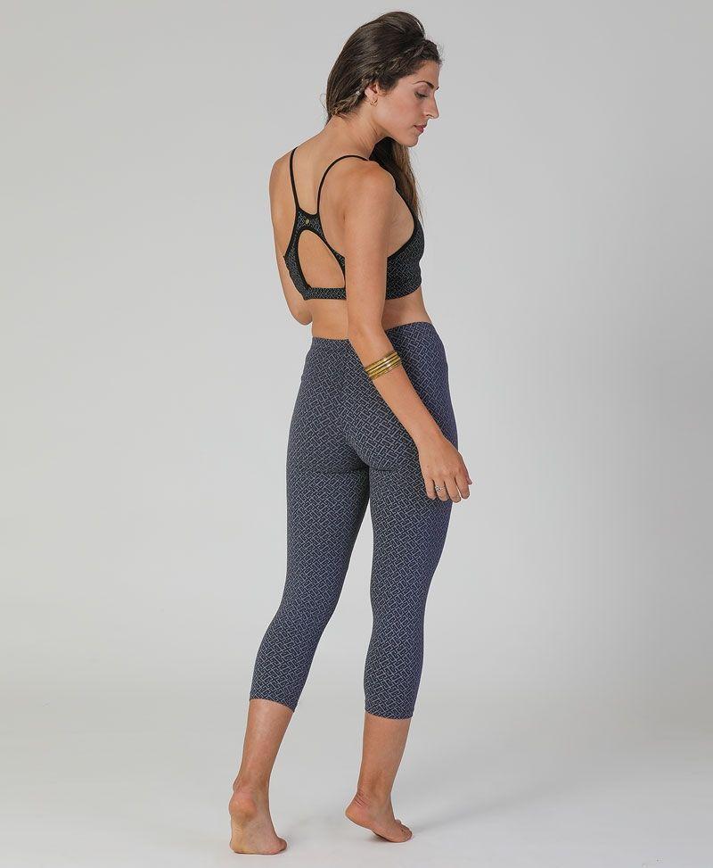 Geometric print cotton yoga leggings for women