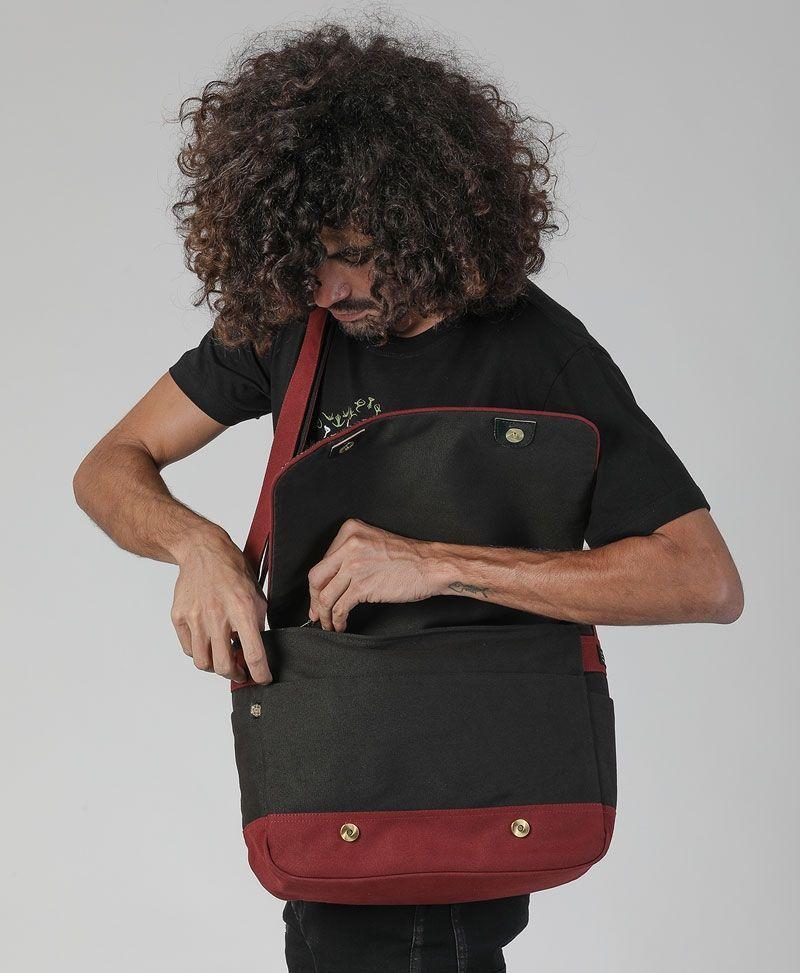 psytrance clothing messenger laptop backpack sacred geometry