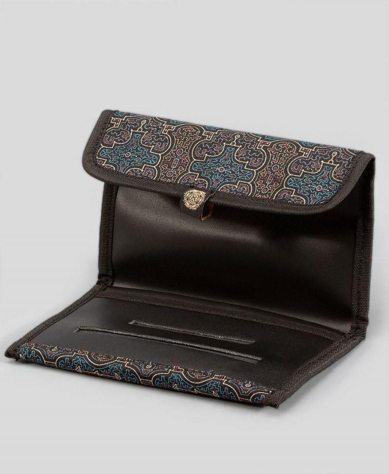 shipibo print tobacco case rolling pouch