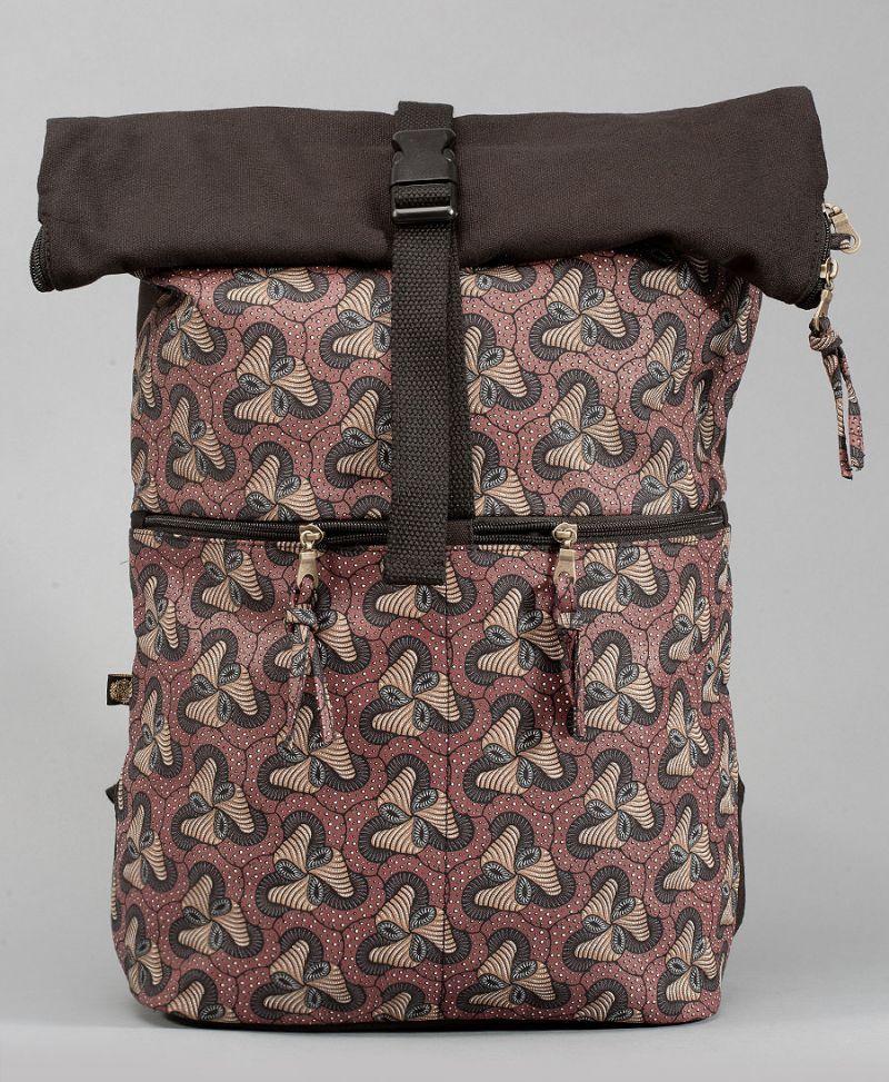 magic mushroom roll top backpack travel bag
