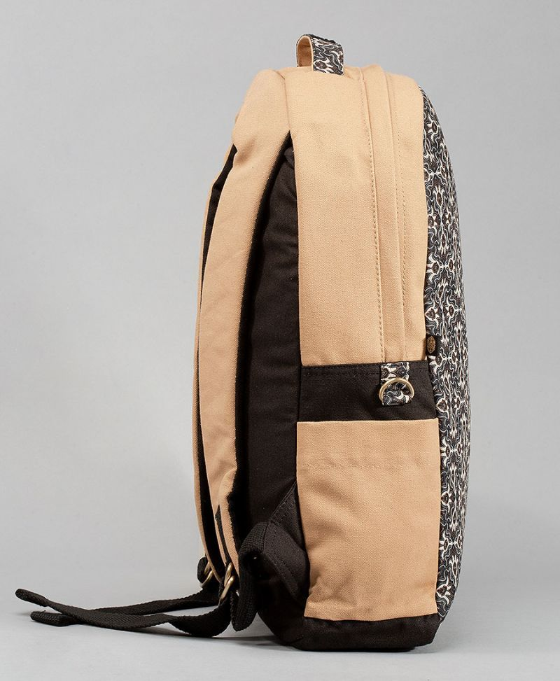 tribal print canvas backpack for women laptop bag