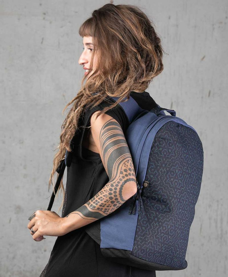 sacred geometry round backpack seed of life