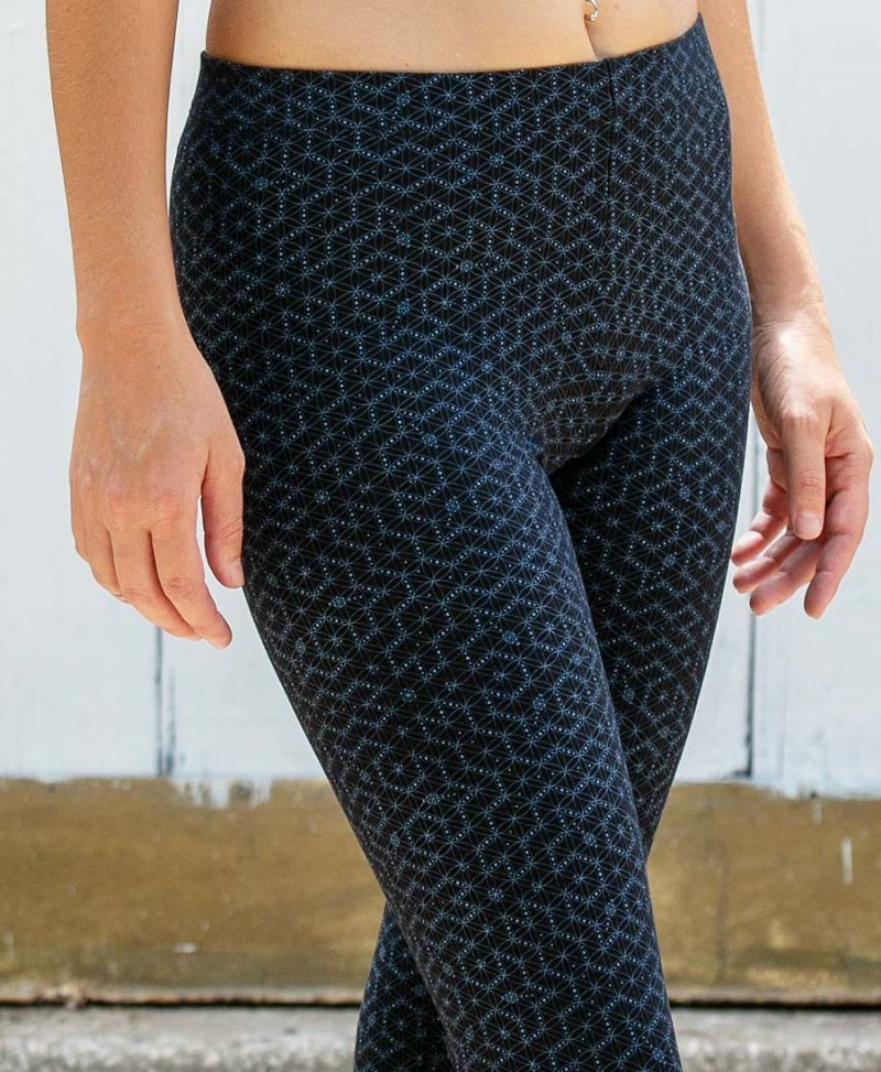 seed of life printed leggings for women