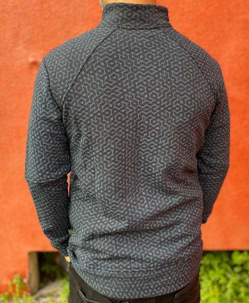 On sale- men zip up hoodie jacket with seed of life print