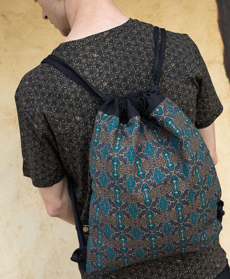Psy Trance Festival Drawstring Backpack Sack Bag Canvas Shipibo