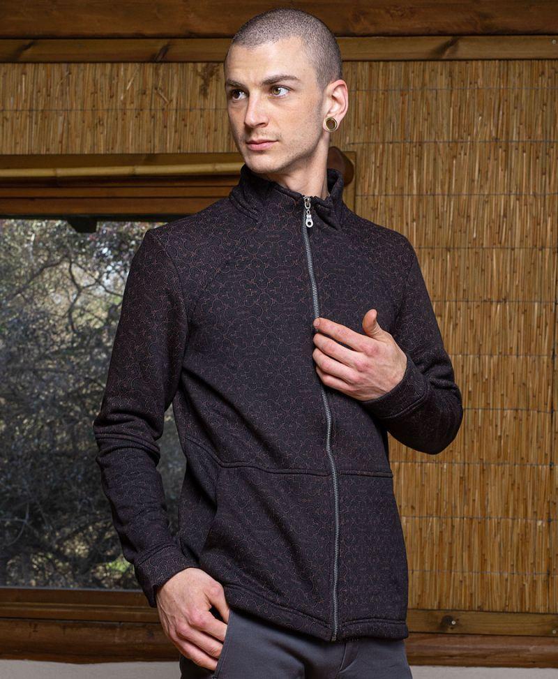 shipibo clothing men zip jacket long sleeve