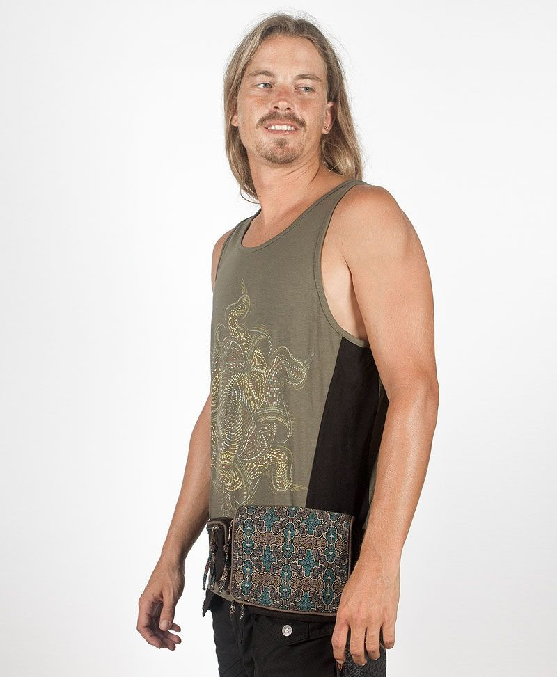 psy trance festival fanny pack utility belt canvas shipibo