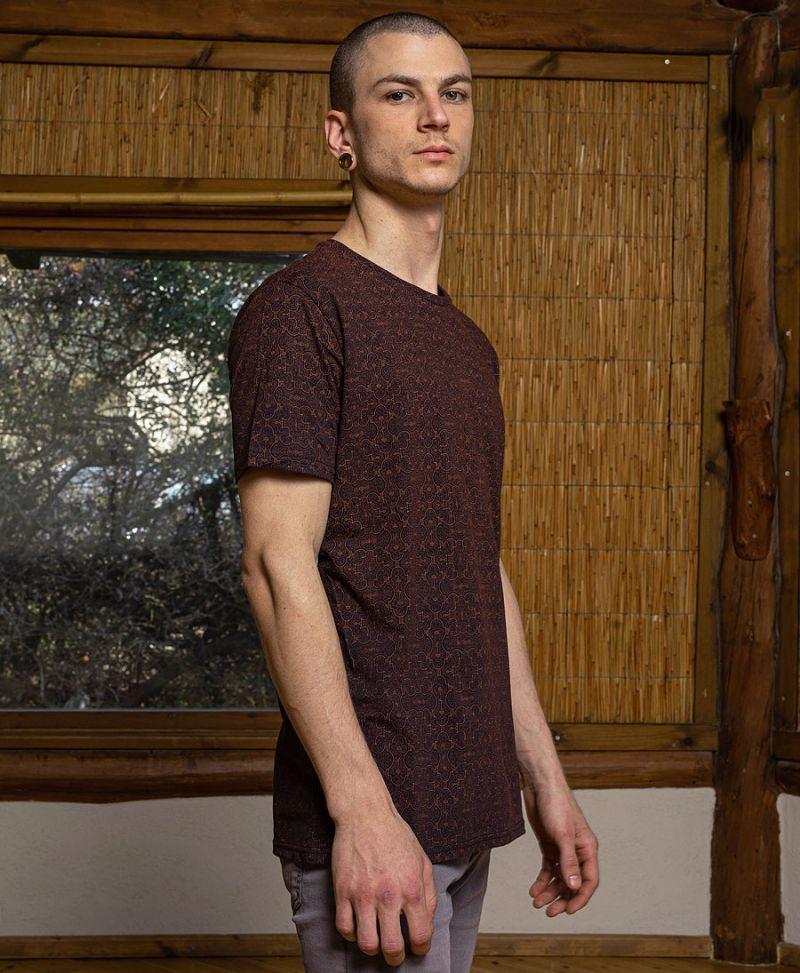 shipibo t shirt for men sacred geometry clothing