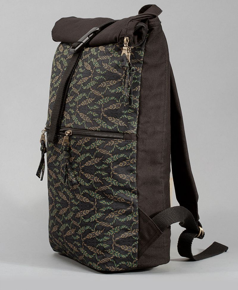 roll top backpack large travel bags tribal print