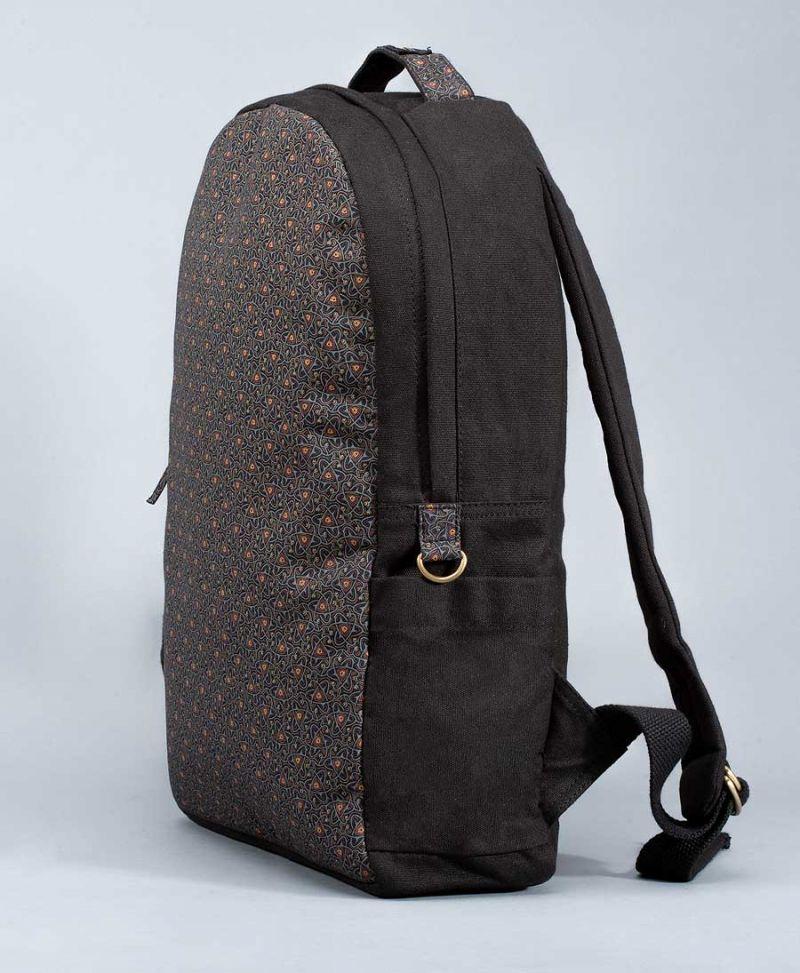 tribal backpack vegan canvas laptop bag