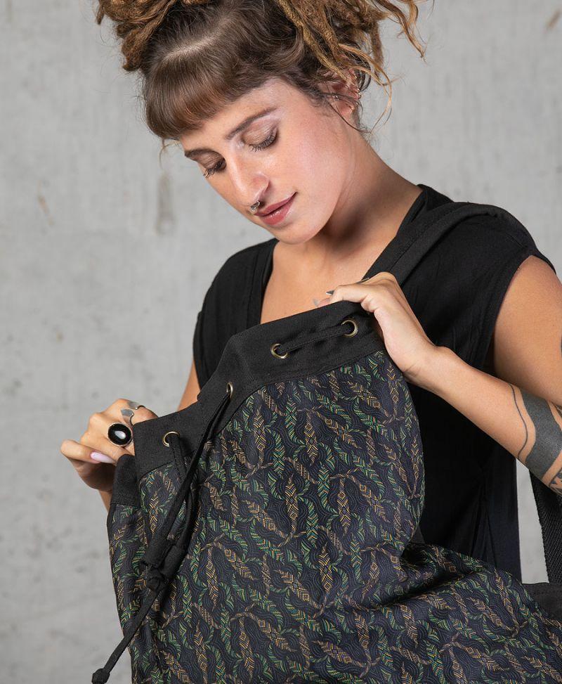 tribal backpack canvas sack bag