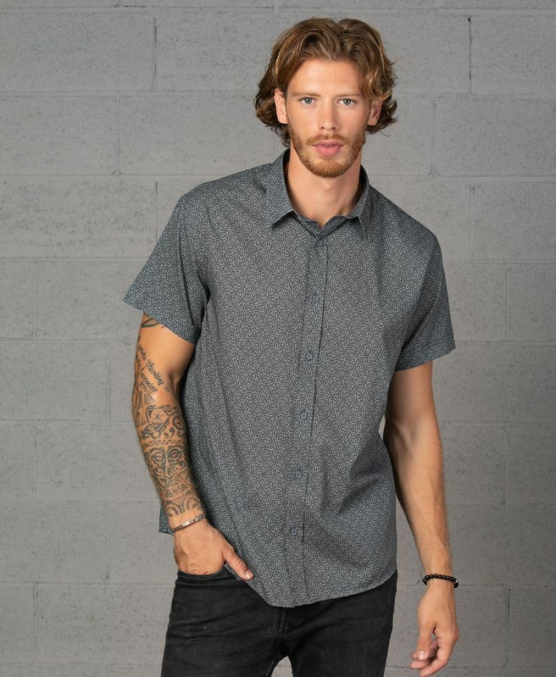 urban men button down shirt psychedelic button up psy streetwear