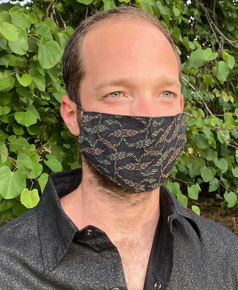Psychedelic Face Mask- Washable And Reusable Cotton Fabric Mask- Unisex Adults Dust Mask- Festival Travel Gear