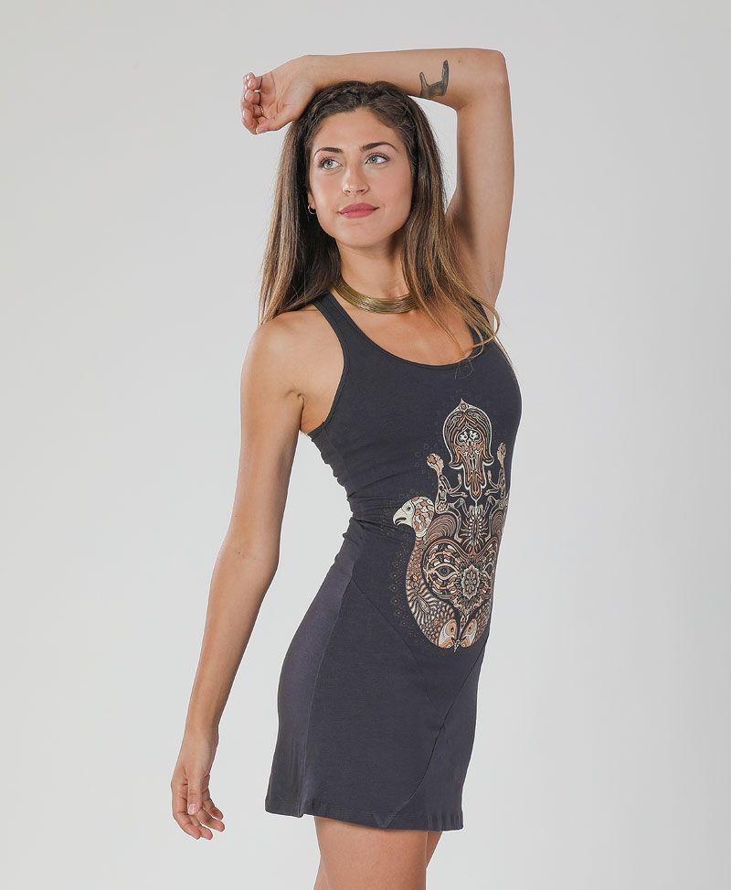 psychedelic clothing women tunic dress hamsa