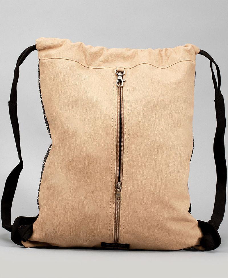 women sack bag canvas drawstring backpack tribal