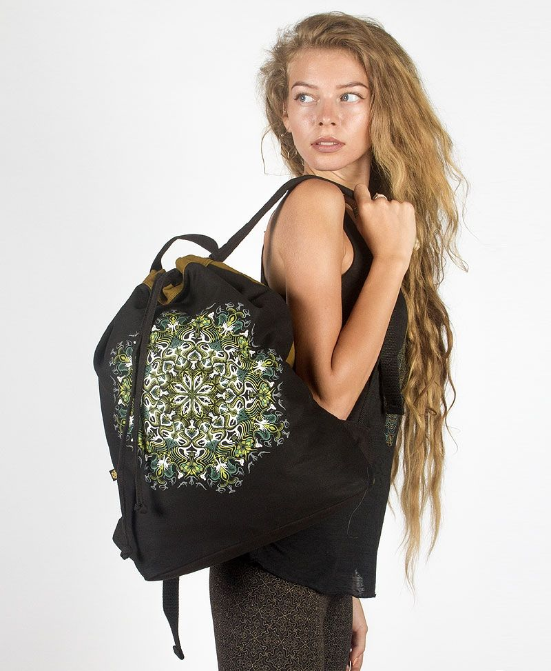 Lotusika ➟ Padded Straps Drawstring Backpack