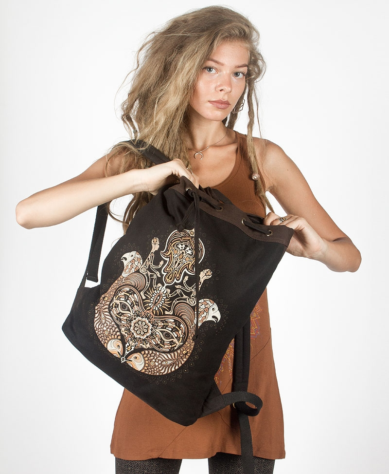 Hamsa ➟ Padded Straps Drawstring Backpack