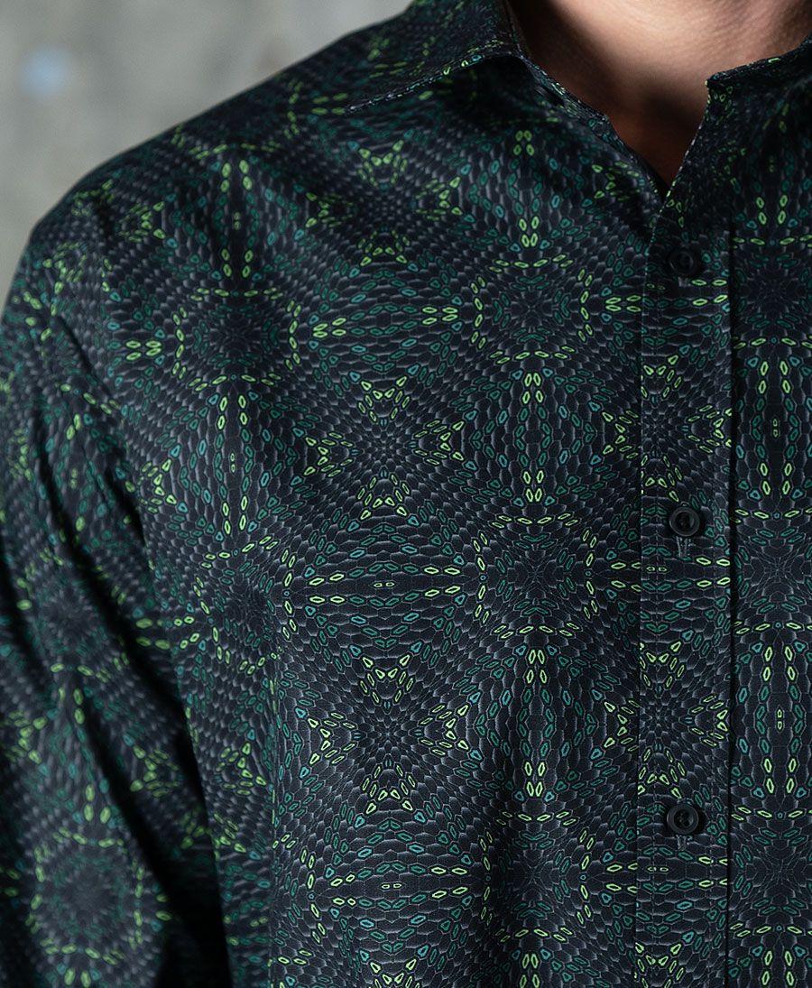 HEXIT Button Shirt- Long Sleeve