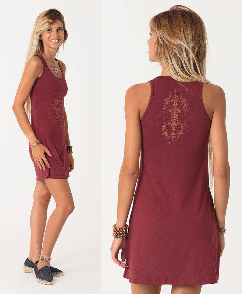 Trishula Tunic Dress ➟ Red