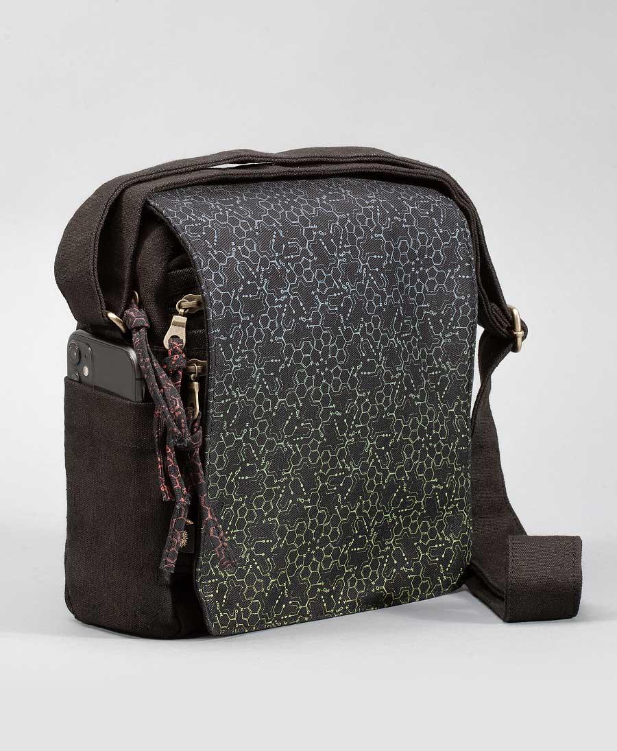 LSD Molecule CrossBody Bag | Purple Green