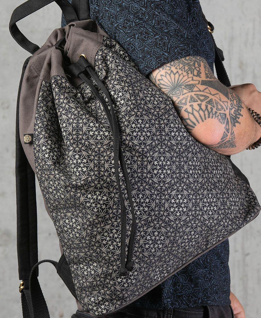 Hempi ➟ Padded Straps Drawstring Backpack