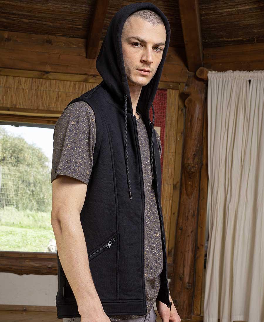 TriMurti Hooded Vest ➟ Black