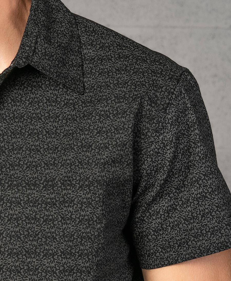Rudraksha Button Shirt ➟ Black