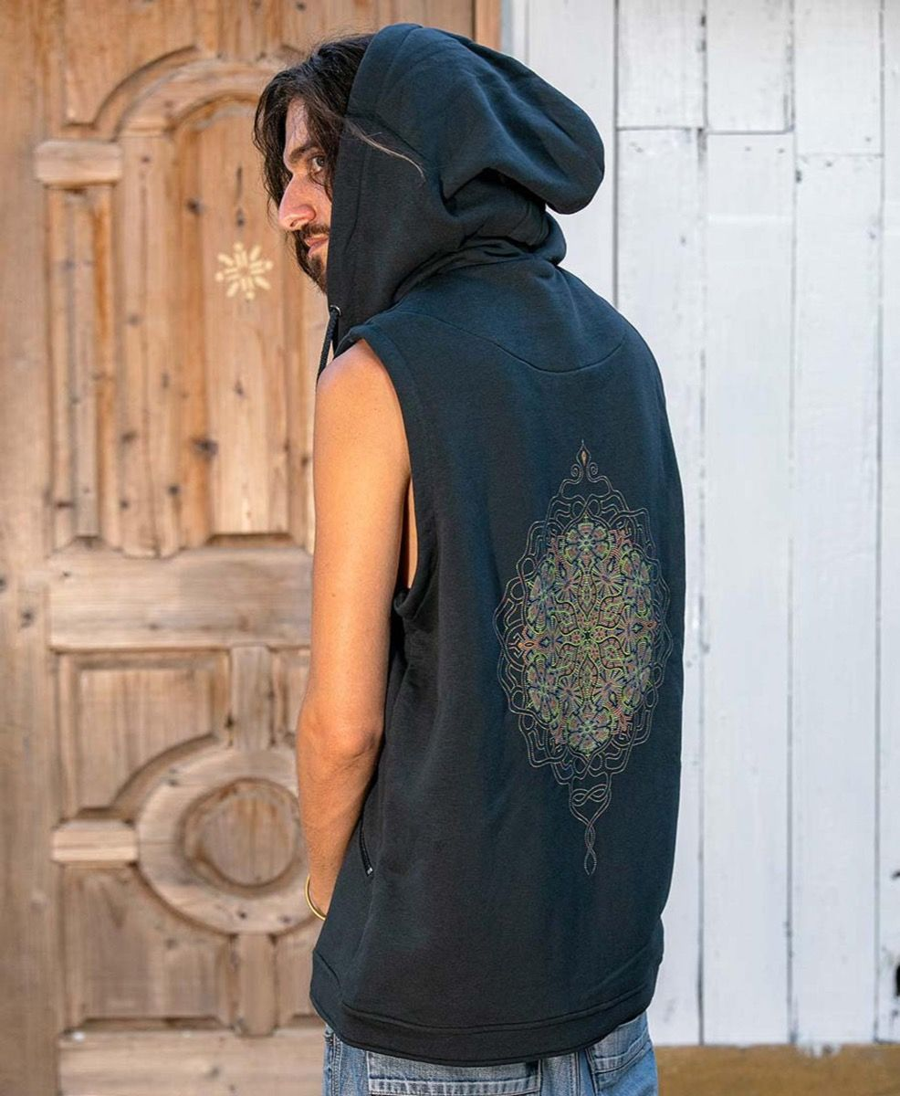 Peyote Hooded Vest ➟ Grey