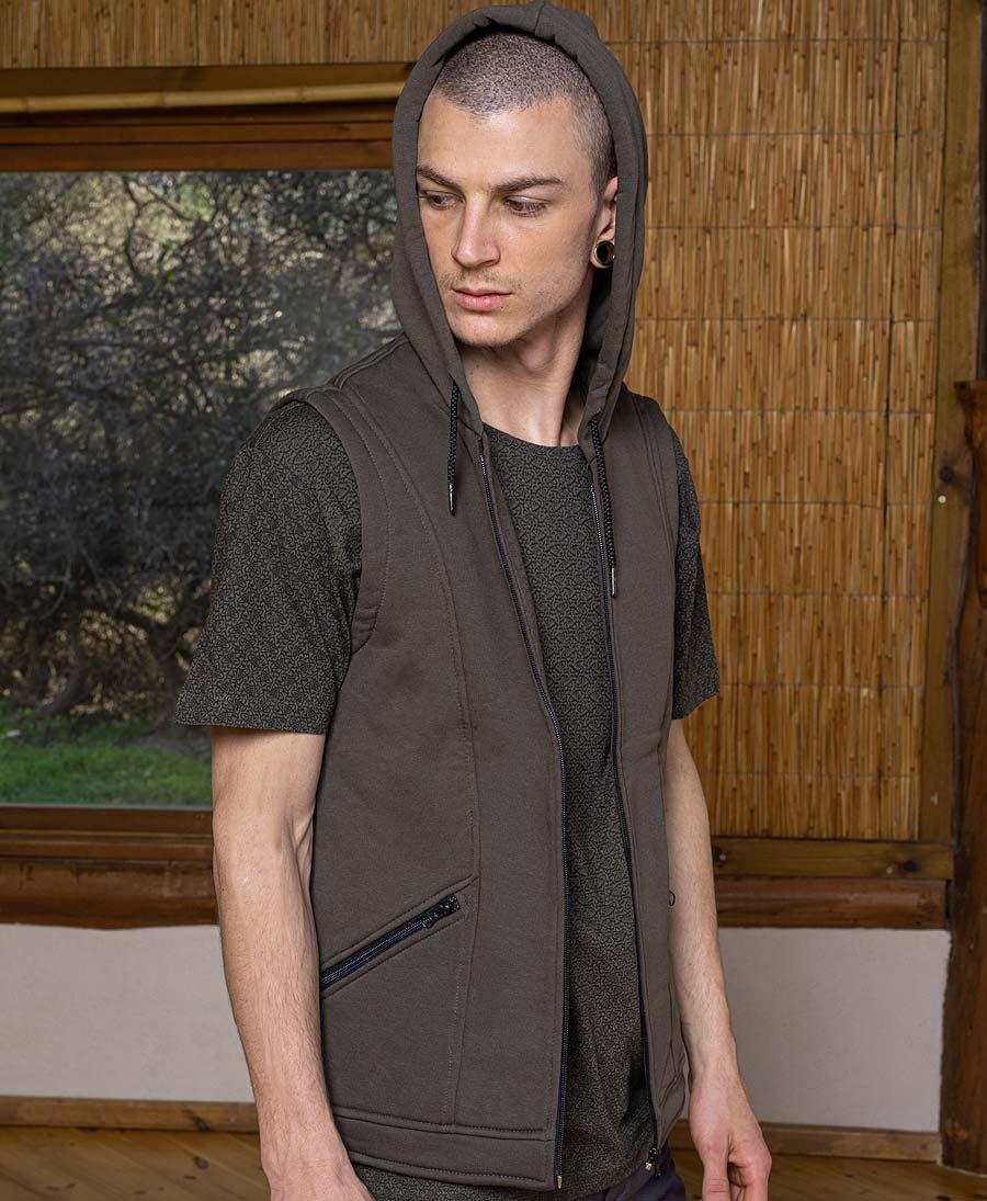 Lotusika Hooded-Vest ➟ Olive