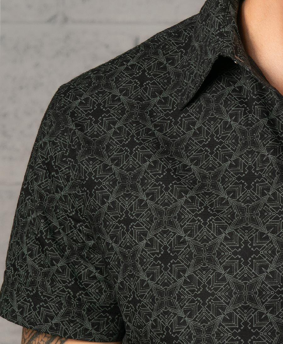 Squarcle Button Shirt ➟ Black