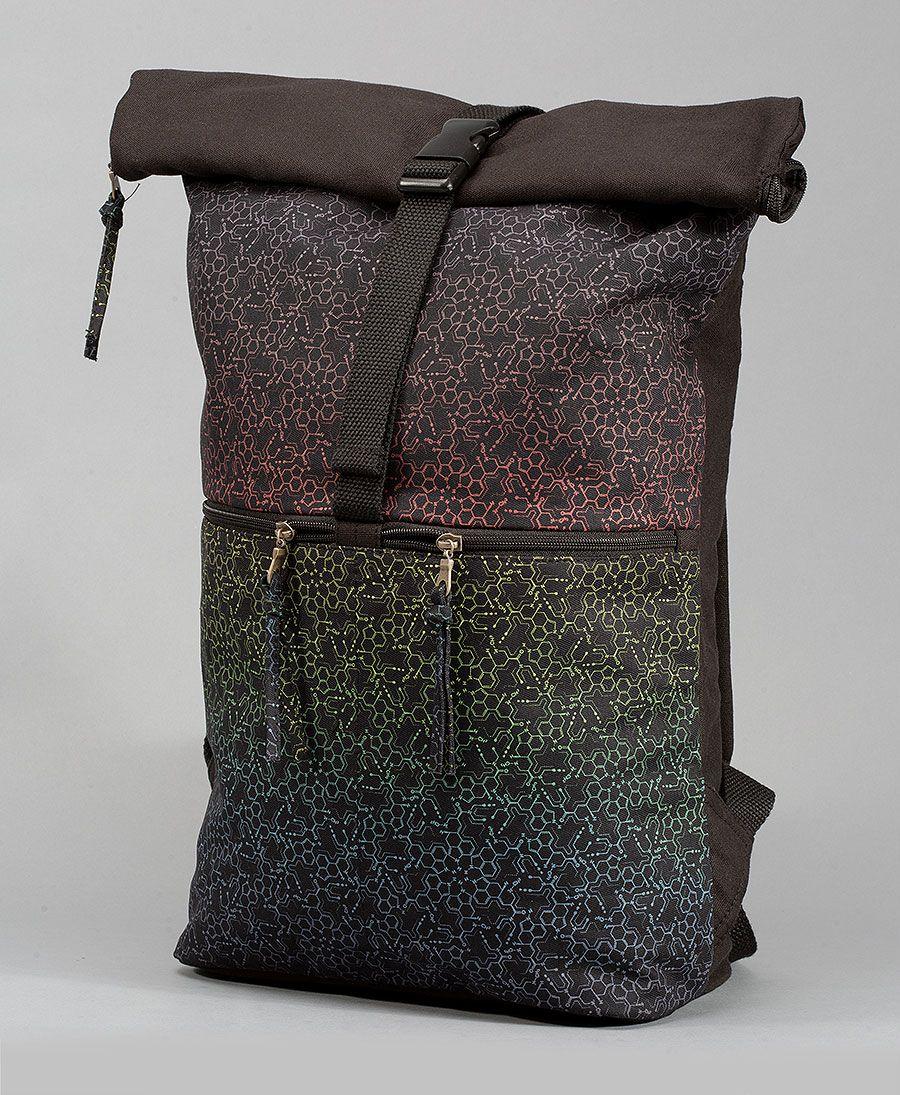 LSD Molecule Roll-Top Backpack 25L