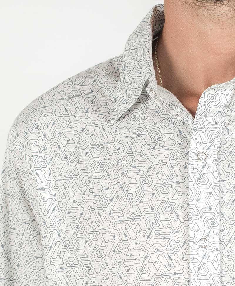 Plonter Long Button Shirt ➟ White