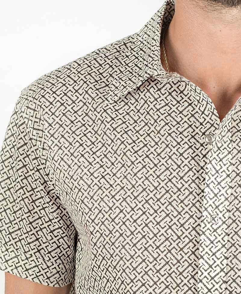 InOut Button Shirt ➟ Stone