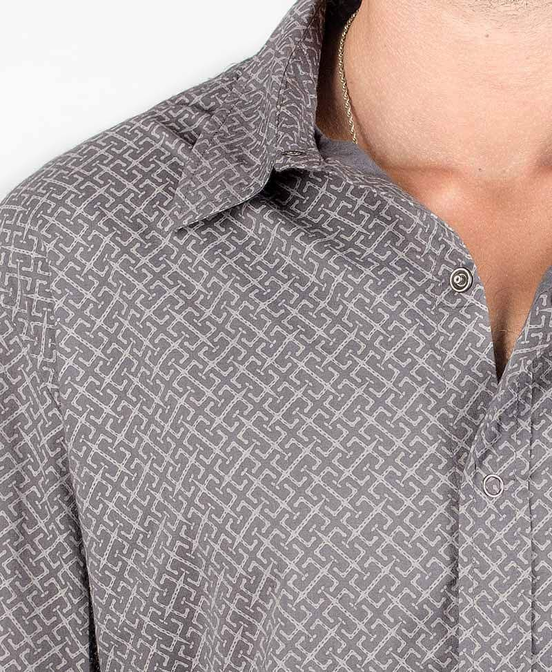 InOut Long Button Shirt ➟ Grey