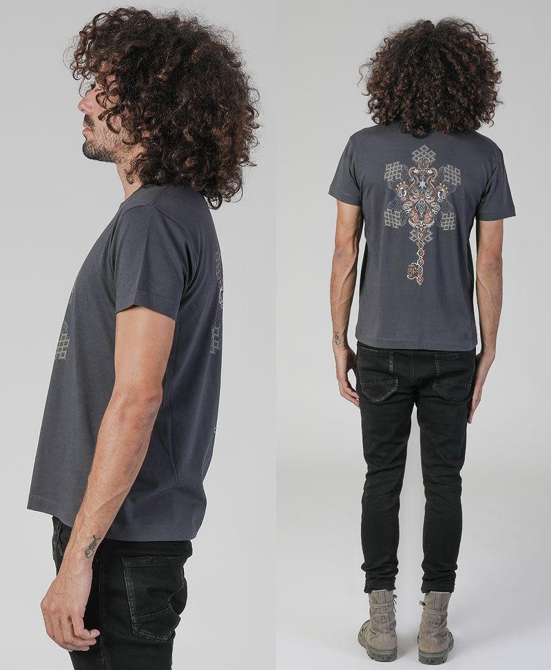 Om On Key T-shirt ➟ Grey